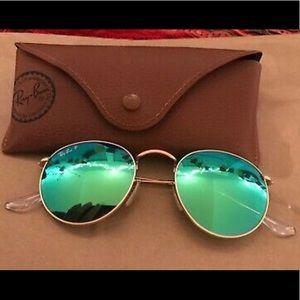 Ray Ban Uno-sex flash round polarized sunglasses